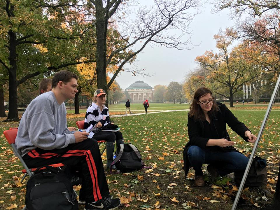 Math on the quad with Lena Folwaczny.
