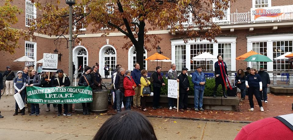 Teach-in at the Illini Union