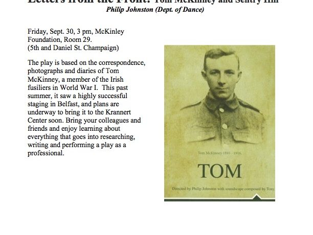 [NTFC Presents] Letters from the Front: Tom McKinney and Sentry Hill • Philip Johnston (Dept. of Dance)