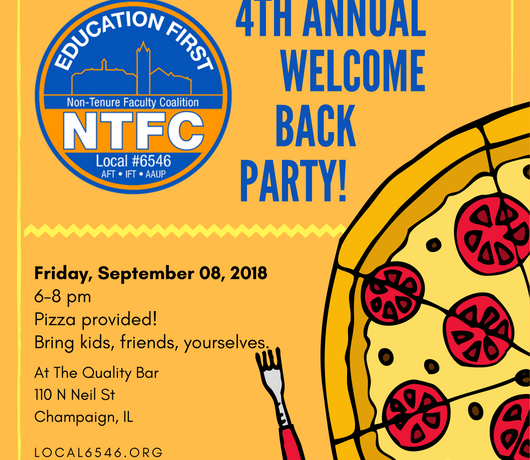WELCOME BACK PARTY! (FRIDAY 9/8)