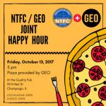 NTFC/GEO Happy Hour – Friday Oct 13