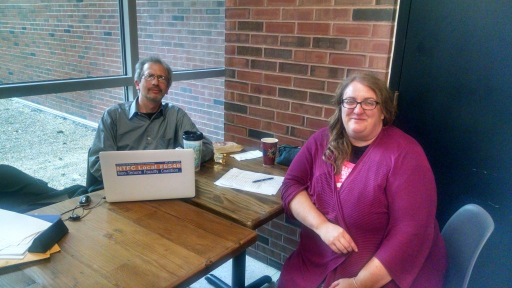 Dave Dubin and Stephanie Fortado at NTFC Stewards Coffee