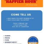 """Welcome Back """"Happier Hour"""""""