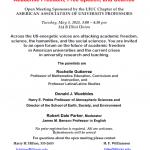 Academic Freedom Event